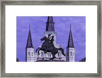 Statue Of Andrew Jackson Framed Print