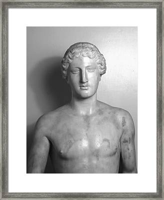 Statue Of Apollo Framed Print by Roman School
