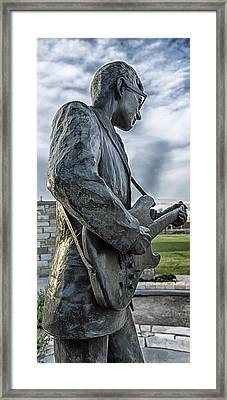 Statue Of Buddy Holly Framed Print by Mountain Dreams