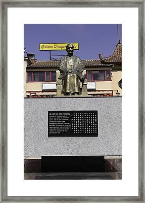 Statue Of Dr. Sun Yat-sen Framed Print by Teresa Mucha