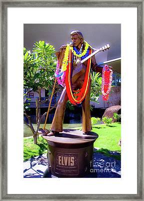 Statue Of, Elvis Presley - Honolulu, Hawaii  Framed Print by D Davila
