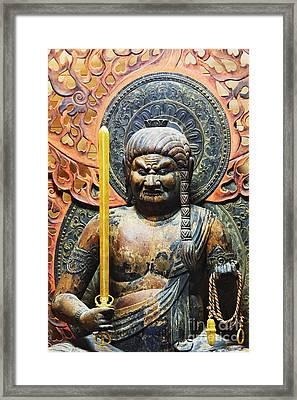Statue Of Fudo Myo-o Framed Print by Jeremy Woodhouse