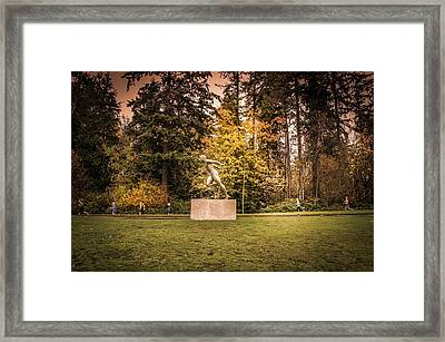 Statue Of Harry Jerome  Framed Print