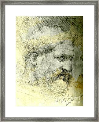 Statue Of Heracles Framed Print by Rik Ward