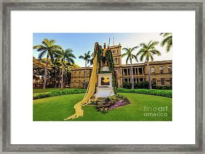 Statue Of, King Kamehameha The Great Framed Print