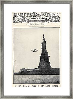 Statue Of Liberty, 1909 Framed Print by Granger