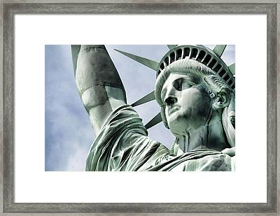 Statue Of Liberty 2 Framed Print by Lanjee Chee