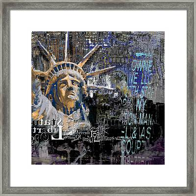 Statue Of Liberty 204 1 Framed Print by Mawra Tahreem