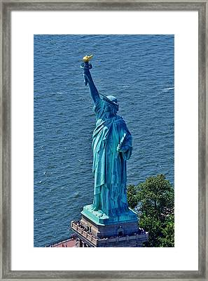 Statue Of Liberty 7 Framed Print by Adam Riggs
