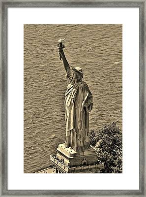 Statue Of Liberty 8 Framed Print by Adam Riggs