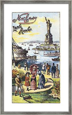 Statue Of Liberty: Ad Framed Print by Granger