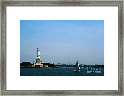 Framed Print featuring the photograph Statue Of Liberty by The Art of Alice Terrill