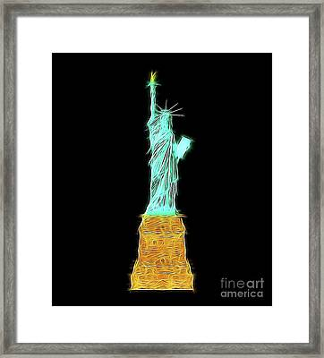 Statue Of Liberty By Raphael Terra Framed Print