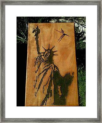 Statue Of Liberty Framed Print by Calixto Gonzalez