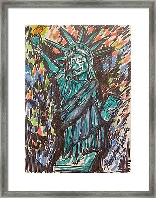 Statue Of Liberty Framed Print by Geraldine Myszenski