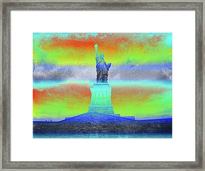 Statue Of Liberty Greenish Framed Print