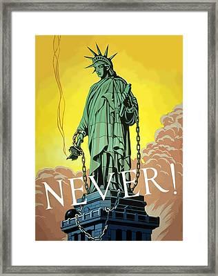 Statue Of Liberty In Chains -- Never Framed Print by War Is Hell Store