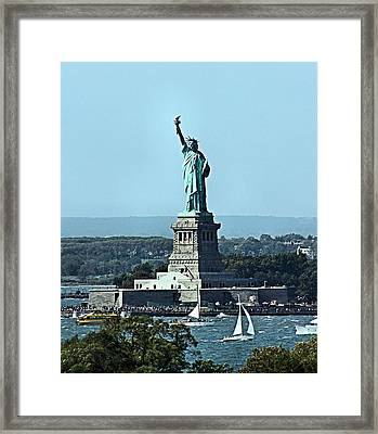 Framed Print featuring the photograph Statue Of Liberty by Kristin Elmquist