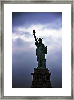 Statue Of Liberty May 2016 Framed Print by Sandy Taylor