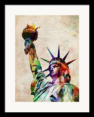 Independence Digital Art Framed Prints