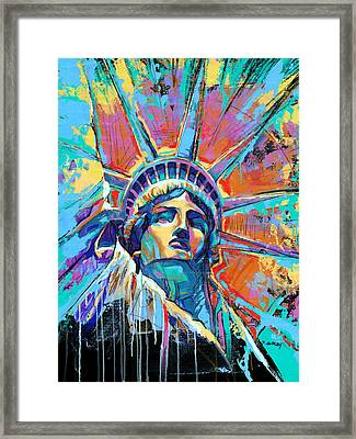 Statue Of Liberty New York Art Usa Framed Print