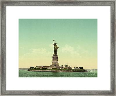 Statue Of Liberty, New York Harbor Framed Print