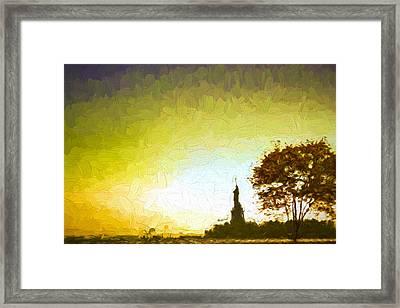 Statue Of Liberty - Nyc Framed Print by Matthew Ashton