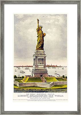 Statue Of Liberty Framed Print by Pg Reproductions