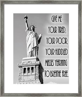 Statue Of Liberty Quote Framed Print