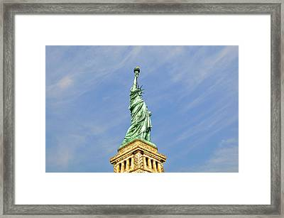 Statue Of Liberty Framed Print by Randy Aveille