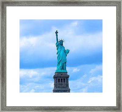 Statue Of Liberty Framed Print by Art Spectrum