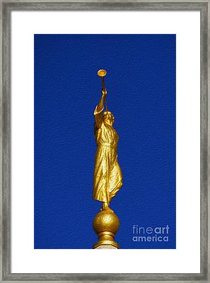 Statue Of Moroni Framed Print by Gloria Pasko