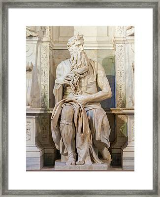 Statue Of Moses Framed Print