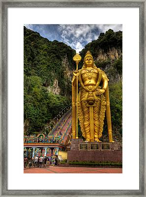 Statue Of Murugan Framed Print