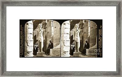 Statue Of Ramses II, Luxor Temple, 1908 Framed Print