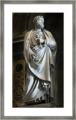 Statue Of Saint Peter Framed Print by Vyacheslav Isaev