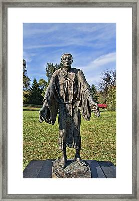 Statue Of St John Of Dukla - The Blue Army Shrine Of Our Lady Of Fatima Framed Print