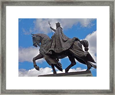 Statue Of St. Louis Framed Print by Julie Grace