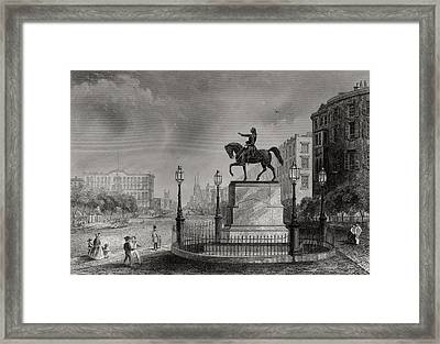 Statue Of Washington Union Square New Framed Print by Vintage Design Pics