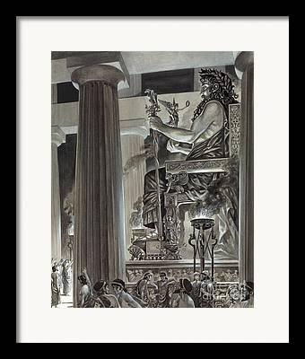 Gray Flames Framed Prints