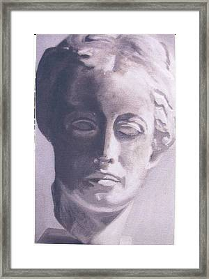 Statue Young Boy Framed Print by Deena Greenberg