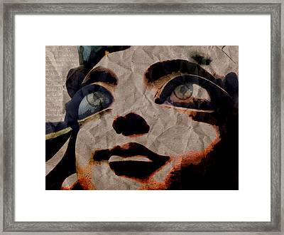 Statues Don't Cry Framed Print by Shawn Ross
