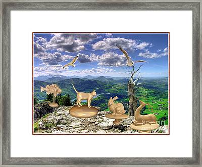 Statues Of The Rock Framed Print
