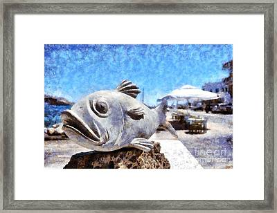 Statuette Of A Fish  Framed Print by George Atsametakis