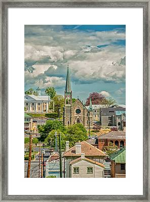 Staunton Cityscape Framed Print by Jim Moore