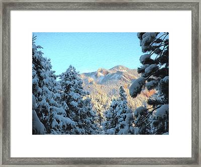 Staunton Mountain Framed Print by Steven Michael