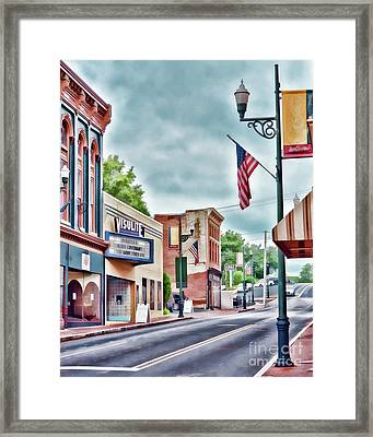 Framed Print featuring the photograph Staunton Virginia - Art Of The Small Town by Kerri Farley