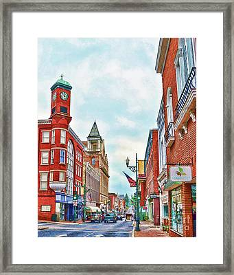 Framed Print featuring the photograph Staunton Virginia - The Queen City - Art Of The Small Town by Kerri Farley