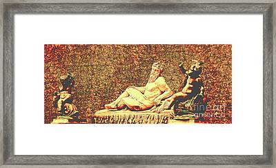 Stautes Of Stone And Metal Framed Print by Colin Cuthbert