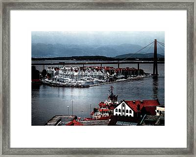 Framed Print featuring the photograph Stavanger Harbor by Jim Hill